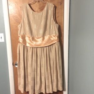 Geode formal gold midi dress